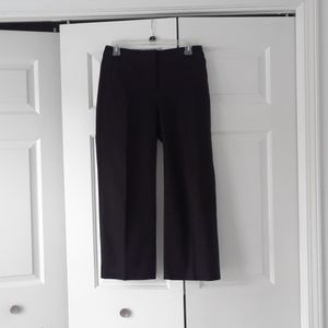 J. Crew black wide leg cropped pants sz 0